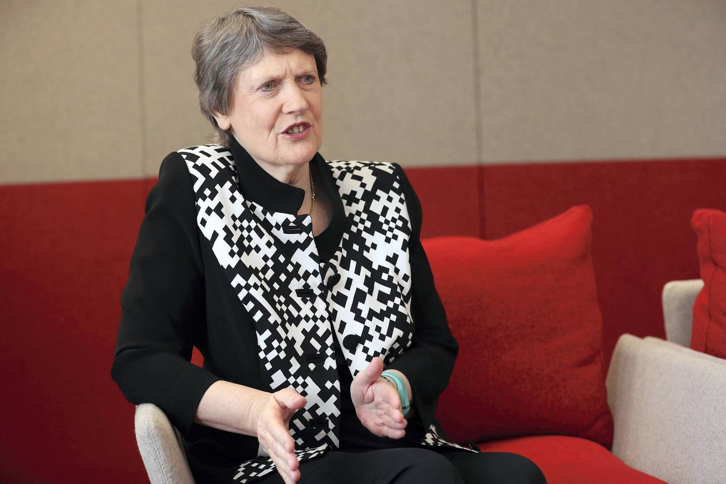 Abu Dhabi, United Arab Emirates - May 9th, 2018: Interview with Helen Clark, UNDP administrator and former prime minister of New Zealand. Wednesday, May 9th, 2018 at New Zealand Embassy, Abu Dhabi. Chris Whiteoak / The National