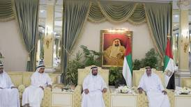 Sheikh Khalifa exchanges Eid greetings with UAE Rulers - in pictures