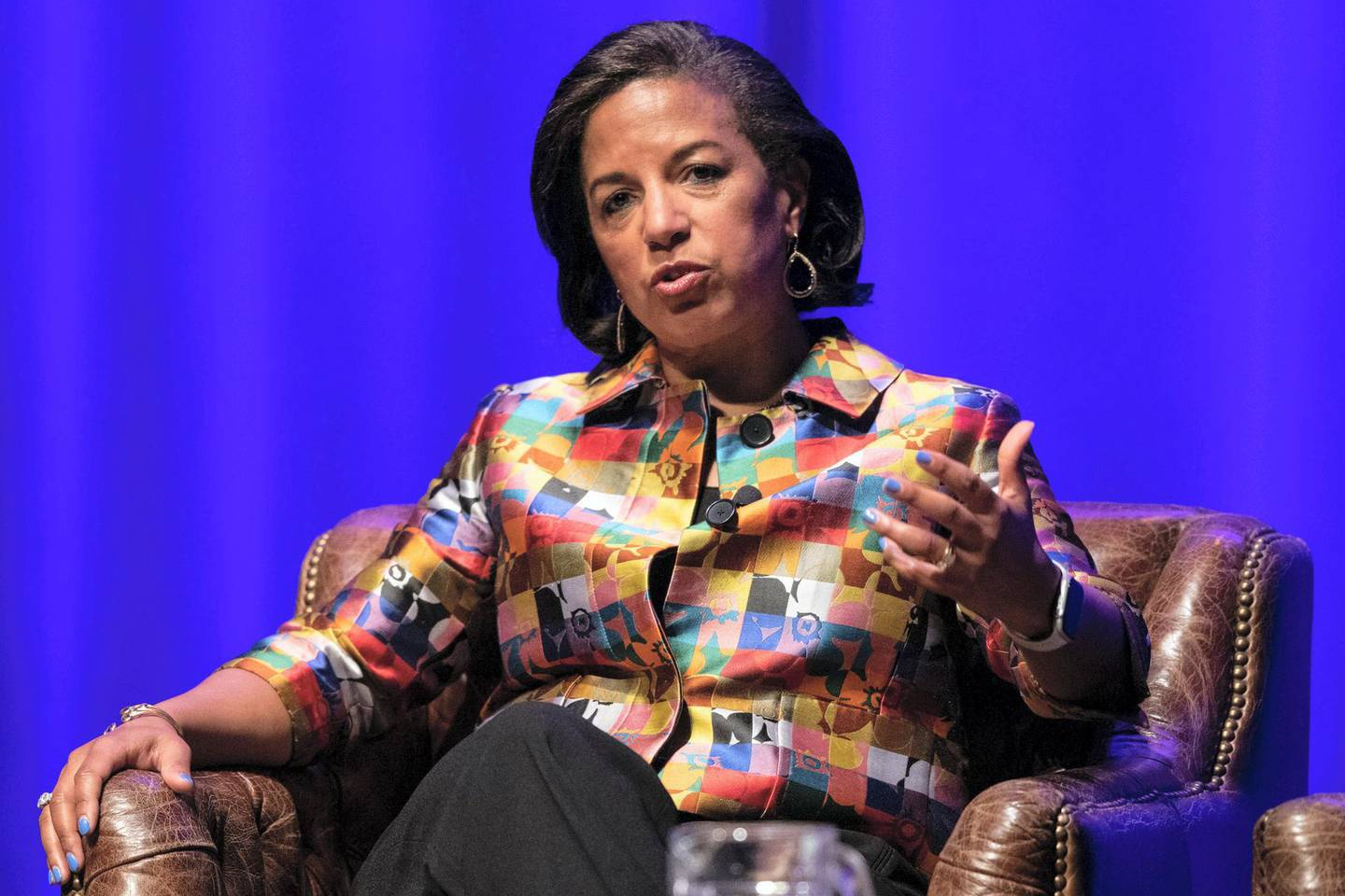 Former National Security Advisor and Ambassador to the United Nations Susan Rice speaks during the Vanderbilt Chancellor   s Lecture Series event at Vanderbilt University's Langford Auditorium in Nashville, Tenn., Wednesday, Feb. 19, 2020.Bolton Rice 021920 011