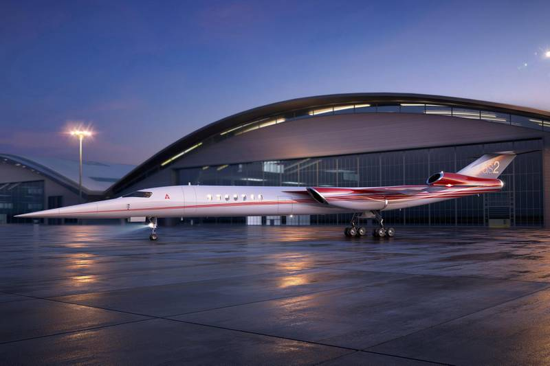FILE PHOTO: The Aerion AS2, the world's first supersonic business jet, being developed by Lockheed Martin Corp partnering with plane maker Aerion Corp of Reno, Nevada, is shown in this handout photo illustration released December 15, 2017.      Aerion Corporation/Handout via REUTERS    ATTENTION EDITORS - THIS IMAGE WAS PROVIDED BY A THIRD PARTY./File Photo