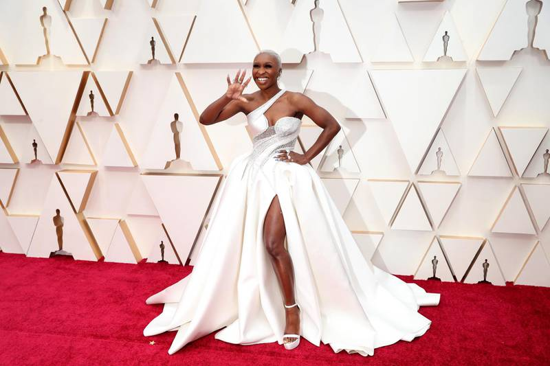 epa08404453 Cynthia Erivo arrives for the 92nd annual Academy Awards ceremony at the Dolby Theatre in Hollywood, California, USA, 09 February 2020 (reissued 06 May 2020). White is the brightest of all colors that is actually created by a mixture of individual colors. White symbolizes purity, virginity and innocence and therefore is the favorite bridal color. The Holy Spirit is often depicted as a white dove and the color also stands for peace. In Western culture, white is usually associated with terms such as joy. In China, the color is a symbol for age and mourning.  EPA-EFE/DAVID SWANSON  ATTENTION: This Image is part of a PHOTO SET