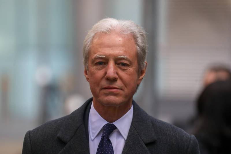 Marcus Agius, former chairman of Barclays Plc, departs after giving evidence in a trial at Southwark Crown Court in London, U.K., on Tuesday, Feb. 19, 2019. The first U.K. jury trial of senior bankers for alleged wrongdoing related to the financial crisis a decade ago is taking place in London, with the prosecution calling its first witness Tuesday. Photographer: Simon Dawson/Bloomberg