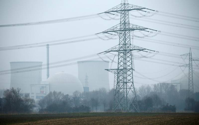 FILE PHOTO: General view of the nuclear power plant in Biblis near Frankfurt, Germany March 15, 2016.   REUTERS/Ralph Orlowski/File Photo