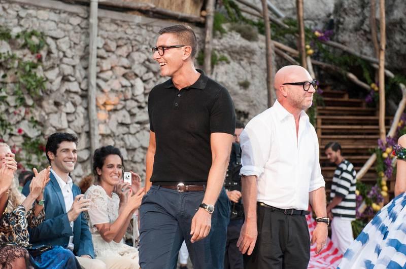 A handout photo of Stefano Gabbana and Domenico Dolce at Dolce & Gabbana Alta Moda show in Capri (Courtesy: Dolce & Gabbana)
