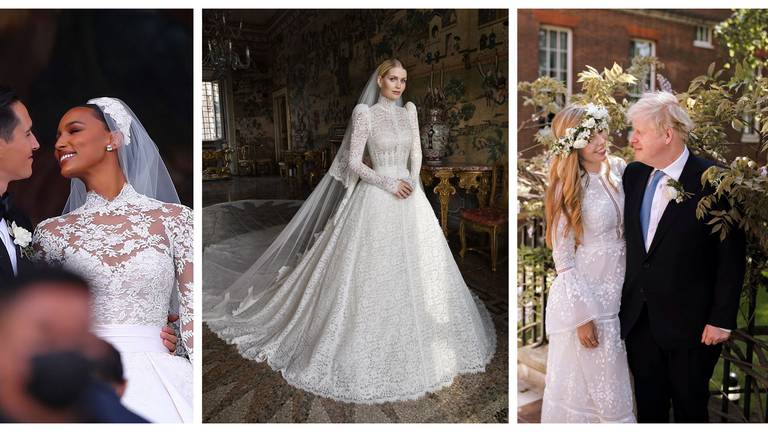 An image that illustrates this article 12 of the best celebrity wedding dresses of 2021