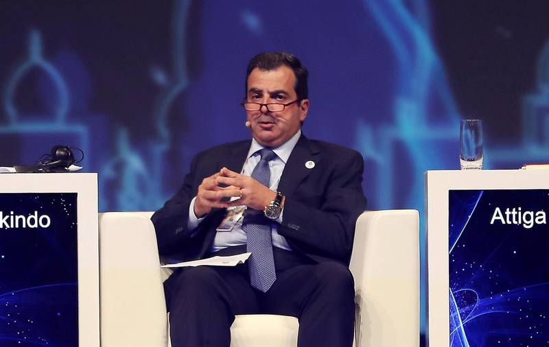 ABU DHABI ,  UNITED ARAB EMIRATES , SEPTEMBER 10 – 2019 :-  Dr. Ahmed Ali Attiga,  Chief Executive Officer,  Arab Petroleum Investments Corporation speaking during the session 'The business outlook for oil' at the World Energy Congress held at ADNEC in Abu Dhabi. ( Pawan Singh / The National ) For Business. Story by Jennifer