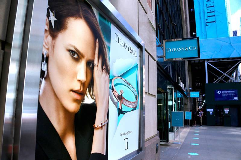 Luxury group LVMH pulls out of it's 16 billions deal with Tiffany and Co. and now both compagnies are sued each other in New York, NY on September 12, 2020. US jeweller Tiffany & Co. is suing luxury goods giant LVMH for stalling over a high-profile takeover deal. LVMH said it had been requested by the French government to delay the takeover due to tariff threats from the US. The luxury goods firm already said it was taking another look at the $16.2bn (£12.5bn) deal, which was struck before the coronavirus pandemic hit. Photo by Charles Guerin//ABACAPRESS.COM/Reuters