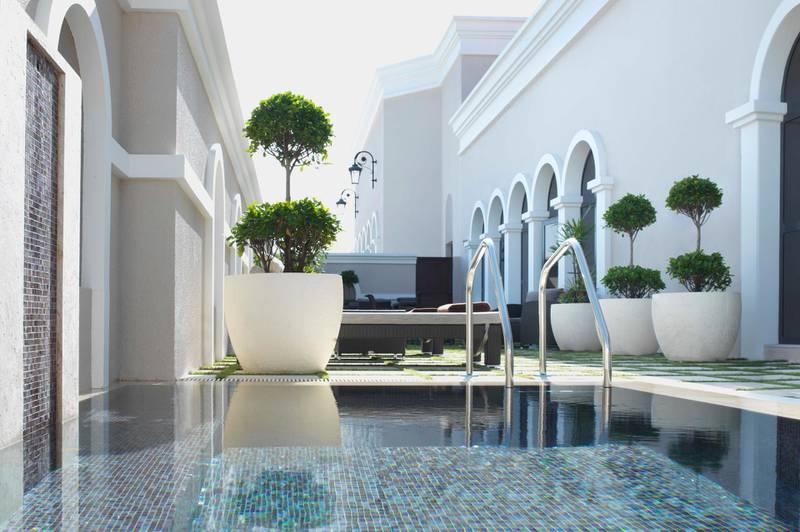 A handout photo of ESPA Outdoor pool area at The Ritz-Carlton Abu Dhabi, Grand Canal (Courtesy: The Ritz-Carlton Abu Dhabi, Grand Canal)