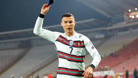 Cristiano Ronaldo rages, hurls armband and storms off pitch after being denied World Cup winner - in pictures