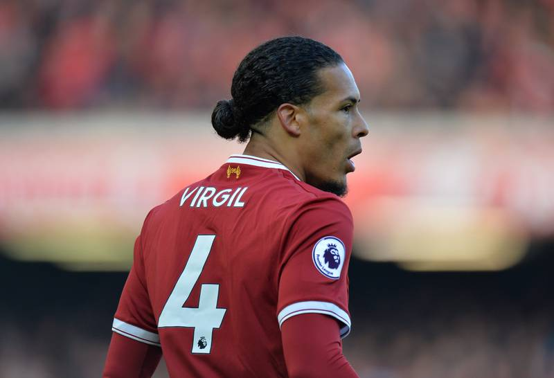 """Soccer Football - Premier League - Liverpool vs West Ham United - Anfield, Liverpool, Britain - February 24, 2018   Liverpool's Virgil van Dijk            REUTERS/Peter Powell    EDITORIAL USE ONLY. No use with unauthorized audio, video, data, fixture lists, club/league logos or """"live"""" services. Online in-match use limited to 75 images, no video emulation. No use in betting, games or single club/league/player publications.  Please contact your account representative for further details."""