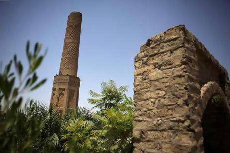 Iraq - Erbil - July 18th, 2010:  The Mudhafaria Minaret, also known as the Choly Minaret, was built between 1190-1232 AD and is located in the west region of Erbil, Iraq.  (Galen Clarke/The National)