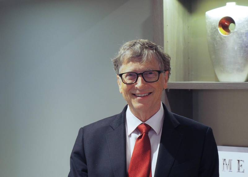 09 October 2019, France (France), Lyon: US billionaire Bill Gates in a hotel in Lyon on the fringes of the Global Fund Donor Conference to Fight AIDS, Tuberculosis and Malaria. Photo: Christian Böhmer/dpa (Photo by Christian Böhmer/picture alliance via Getty Images)