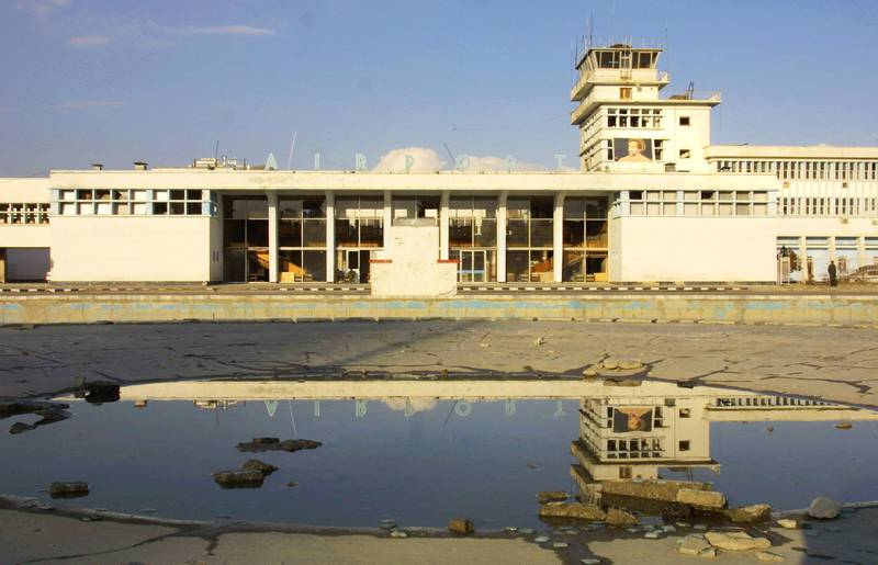 400053 12: The main terminal at Kabul Airport is officially open for business January 24, 2002 in Kabul, Afghanistan. The first Ariana Afghan Airlines international flight in five years took off from Kabul Airport for New Delhi carrying 24 passengers January 24, 2002. (Photo by Paula Bronstein/Getty Images)