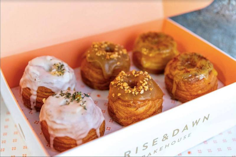 Gift box of 6 sweet cronuts, Dh175, Rise and Dawn