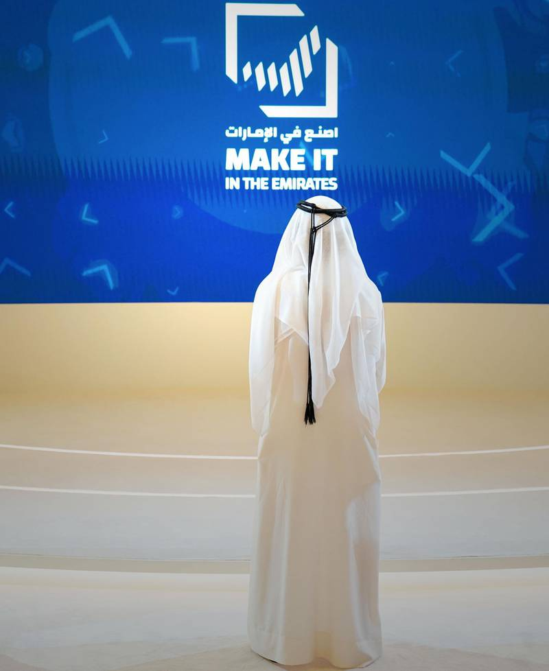 ABU DHABI, 22nd March, 2021 (WAM) -- Sheikh Mohammed bin Rashid Al Maktoum, Vice President and Prime Minister of UAE and Ruler of Dubai, launched  launched the Unified Industrial Brand Identity under the slogan 'Make it in the Emirates'. As an extension of the UAE Nation Brand, the new campaign stems from a vision based on distinction, uniqueness and the efforts to build the credentials of UAE products by enhancing their quality and global competitiveness. Ultimately, every product made in UAE will comply with the highest international quality standards and have its rightful place among the best international products. Wam