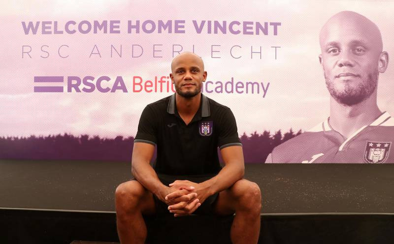 Soccer Football - Anderlecht - Vincent Kompany Press Conference - Neerpede Training Center, Brussels, Belgium - June 25, 2019  Anderlecht Player-Coach Vincent Kompany poses for a photograph during the press conference  REUTERS/Yves Herman