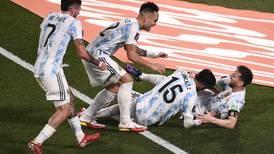 Lionel Messi stars as Argentina thrash Uruguay - in pictures