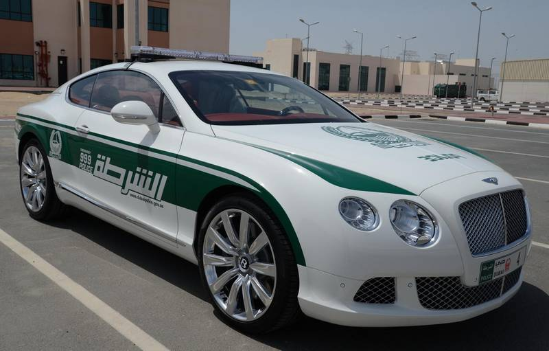 May 5, 2013 - provided photo of the  Bentley Continental GT owned by the Dubai Police Courtesy Dubai Police