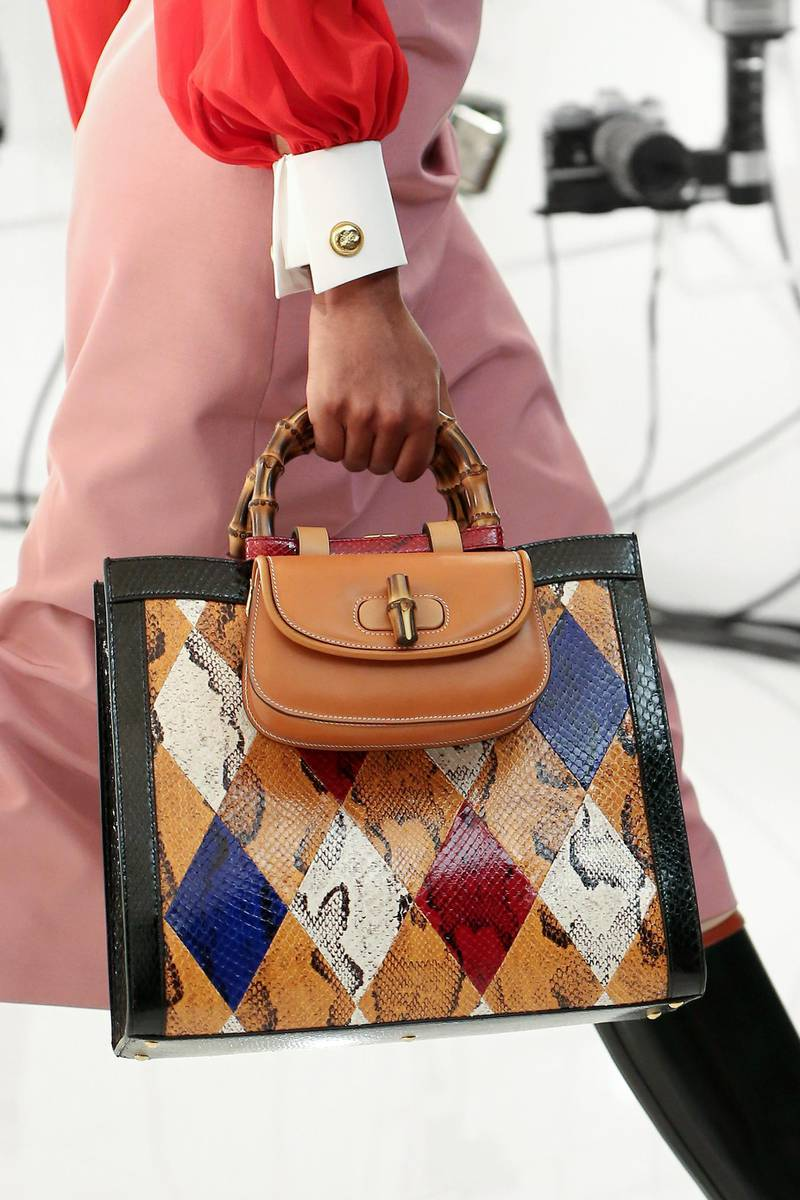ROME, ITALY - APRIL 15: A detail from Gucci Aria collection on April 15, 2021 in Rome, Italy. (Photo by Ernesto S. Ruscio/Getty Images for Gucci)