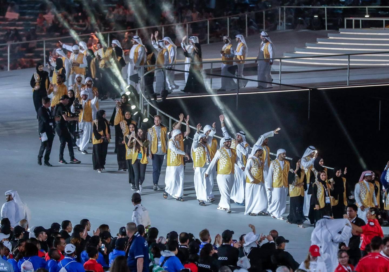Abu Dhabi, March 21, 2019.  Special Olympics World Games Abu Dhabi 2019. Victor Besa/The National