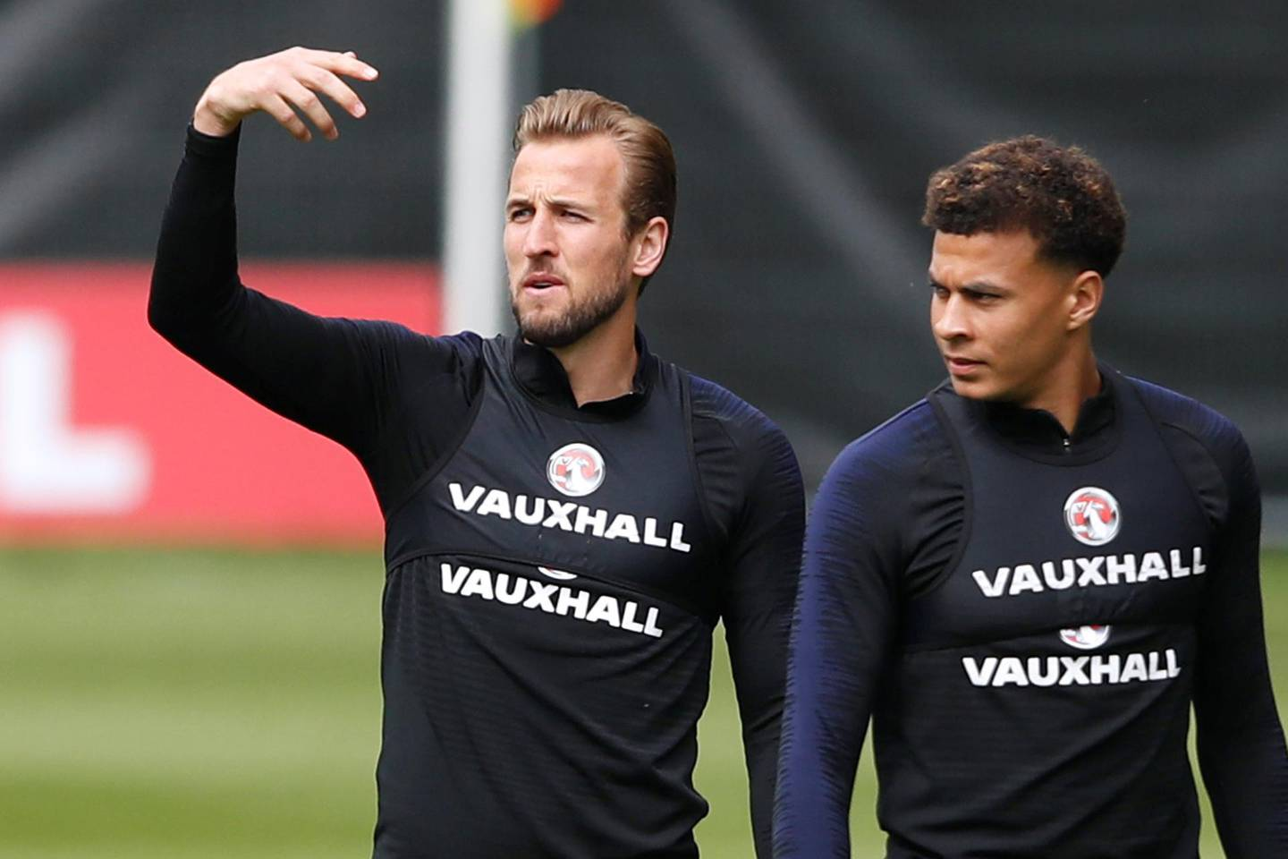 Soccer Football - England Training - The Grove Hotel, Watford, Britain - June 1, 2018   England's Harry Kane and Dele Alli during training   Action Images via Reuters/Carl Recine