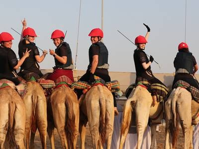 Female Camel Racing Championship at Al Marmoom - in pictures