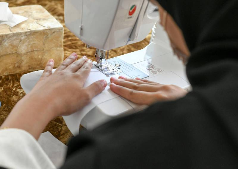Lotus Training Centre-AD The launch of womenÕs sewing programme with UNHCR to teach low-income women professional sewing to earn a living, at Lotus Holistic Retal Training Centre on June 22, 2021. Khushnum Bhandari/ The National Reporter: Haneen Dajani News