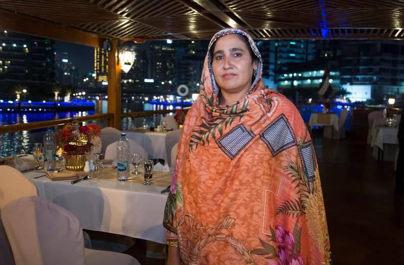 Dubai, United Arab Emirates - Zaheenn Kausar, Big Ticket winner at the gathering of of Abu Dhabi Big Ticket winners at Alexandra Dhow Cruise, Dubai Marina.  Leslie Pableo for The National for Sarwat Nasir's story