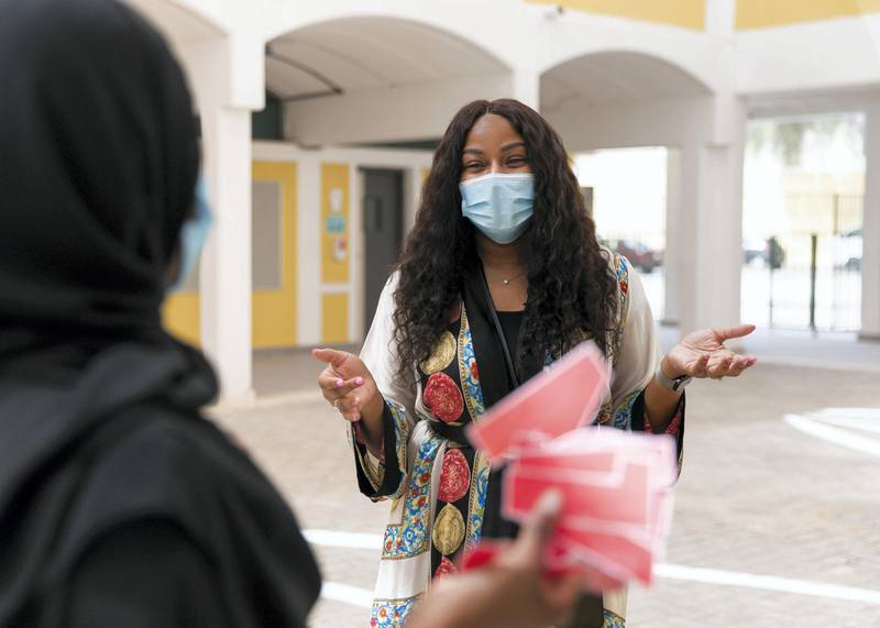DUBAI, UNITED ARAB EMIRATES. 1 SEPTEMBER 2020. Adrianna Chestnut, principal of Bright Learners Private School.(Photo: Reem Mohammed/The National)Reporter:Section: