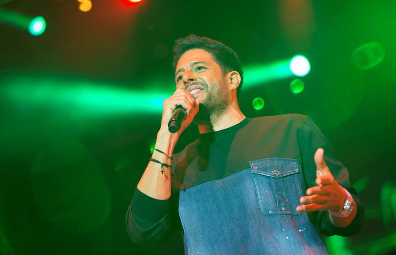 Mohamed Hamaki performs at the Mawazine Festival in Rabat, Morocco. Picture by Wahid Tajani.
