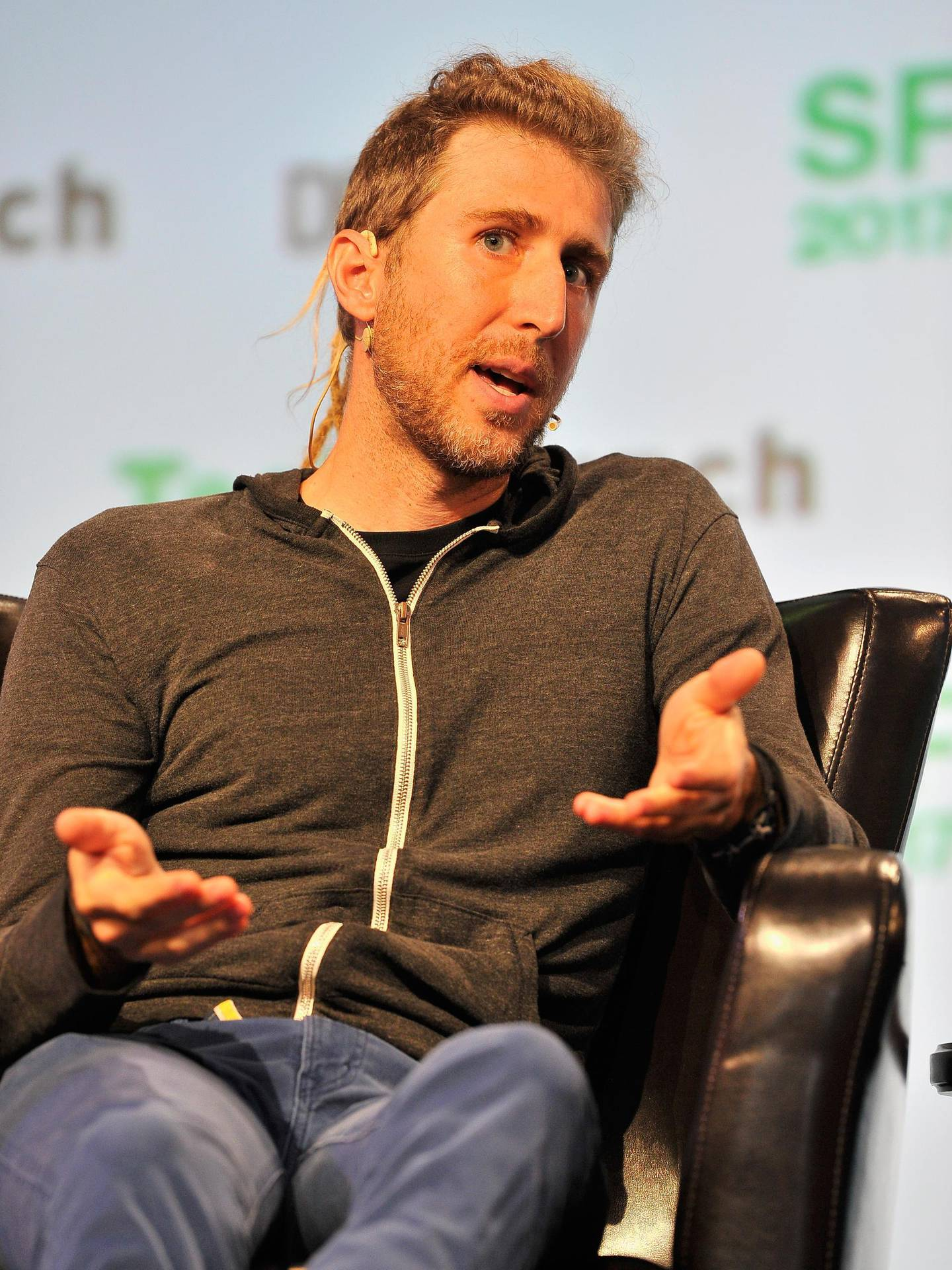 SAN FRANCISCO, CA - SEPTEMBER 18: Open Whisper Systems Founder Moxie Marlinspike speaks onstage during TechCrunch Disrupt SF 2017 at Pier 48 on September 18, 2017 in San Francisco, California.   Steve Jennings/Getty Images for TechCrunch/AFP