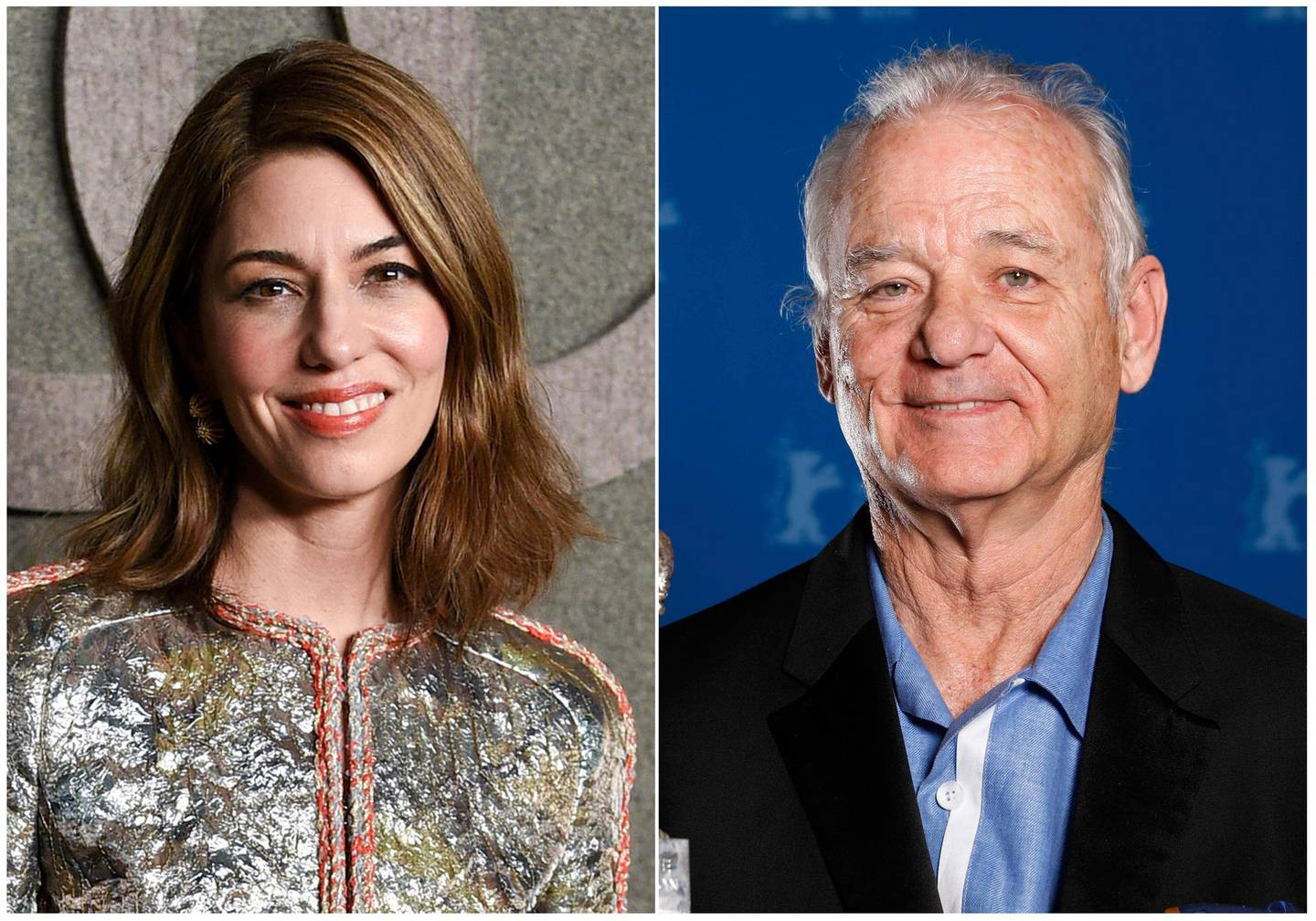 """This combination photo shows filmmaker Sofia Coppola, left, and actor Bill Murray, who will reunite 16 years after their Oscar-winning film, """"Lost in Translation"""" for """"On the Rocks,"""" a New York-set film starring Rashida Jones as a young mother who reconnects with her larger-than-life father, to be played by Murray. The film, which Coppola also wrote, will begin this spring in New York. (AP Photo)"""