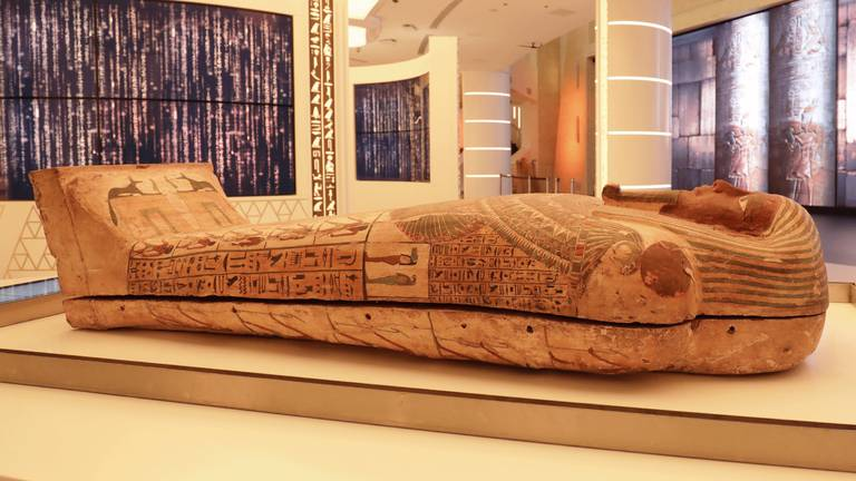 An image that illustrates this article Expo 2020 Dubai: ancient pharaoh's coffin arrives at Egypt's pavilion