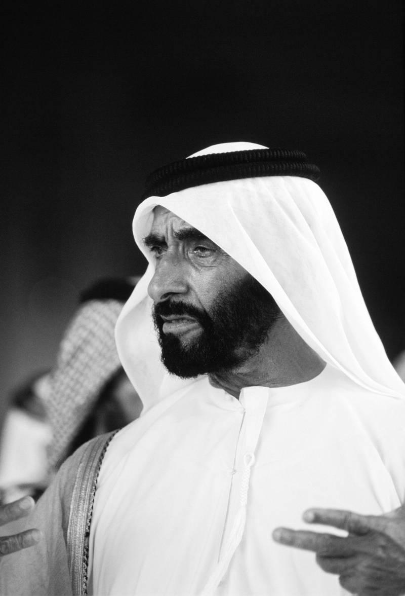 UNITED ARAB EMIRATES - NOVEMBER 01:  Sheikh Zayed Ruler of Abu Dhabi, United Arab Emirates.  (Photo by Tim Graham/Getty Images)