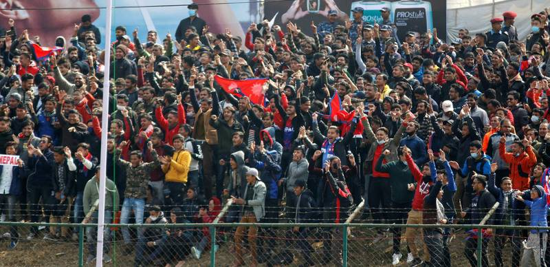 Spectators during the ICC Cricket World Cup League 2 match between USA and Nepal at TU Cricket Stadium on 8 Feb 2020 in Nepal (3)