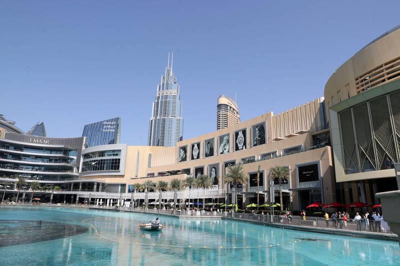 Dubai, United Arab Emirates - Reporter: N/A: Stock. Exterior general views of Dubai Mall. Saturday, February 8th, 2020. Downtown, Dubai. Chris Whiteoak / The National