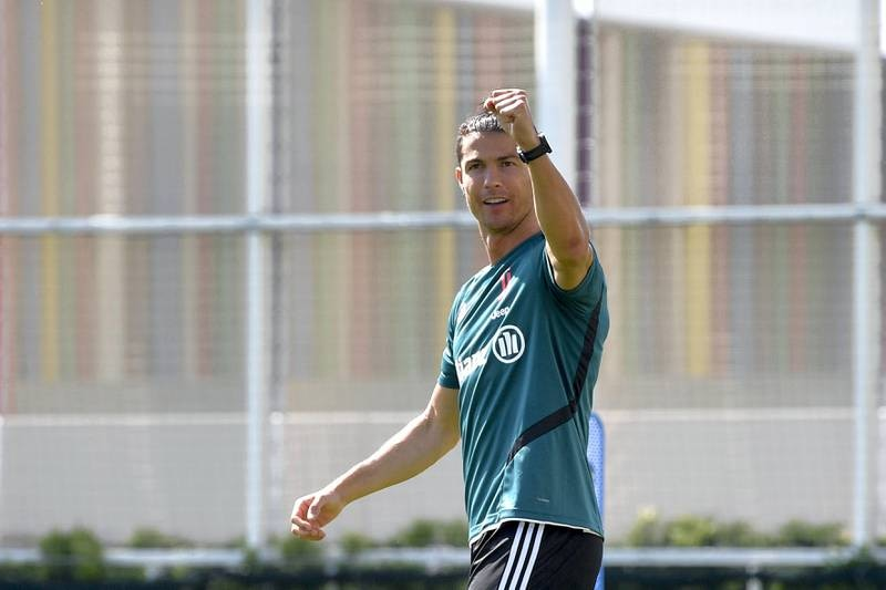 TURIN, ITALY - MAY 25: Juventus player Cristiano Ronaldo during a training session at JTC on May 25, 2020 in Turin, Italy. (Photo by Daniele Badolato - Juventus FC/Juventus FC via Getty Images)