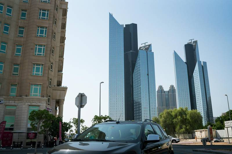 Residential and commercial towers stand in the Business Bay district of Dubai, United Arab Emirates, on Tuesday, Sept. 12, 2017. Dubai residentialpropertyprices and rents are set to fall further as losses of high-paying jobs and dwindling household incomes boost vacancies across the city, according to Phidar Advisory. Photographer: Tasneem Alsultan/Bloomberg