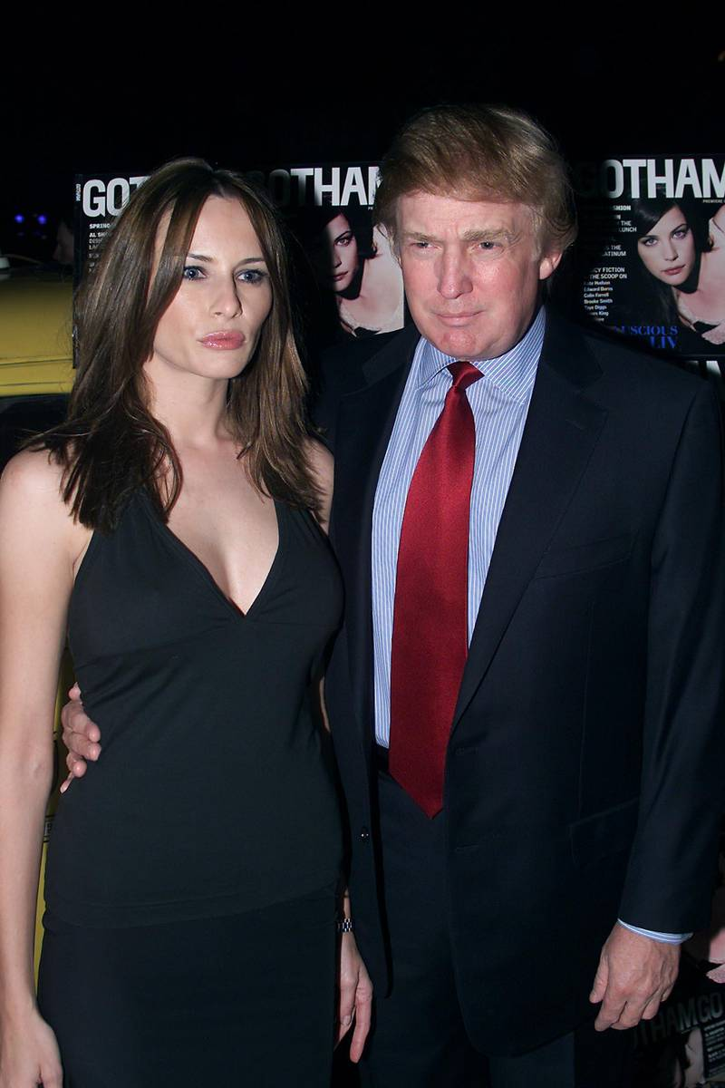 Donald Trump and Melania Knauss, at the launch of, 'Gotham' magazine, at Cipriani, West 42nd Street, New York City, Thursday March 1st, 2001. Photo: Nick Elgar/ImageDirect