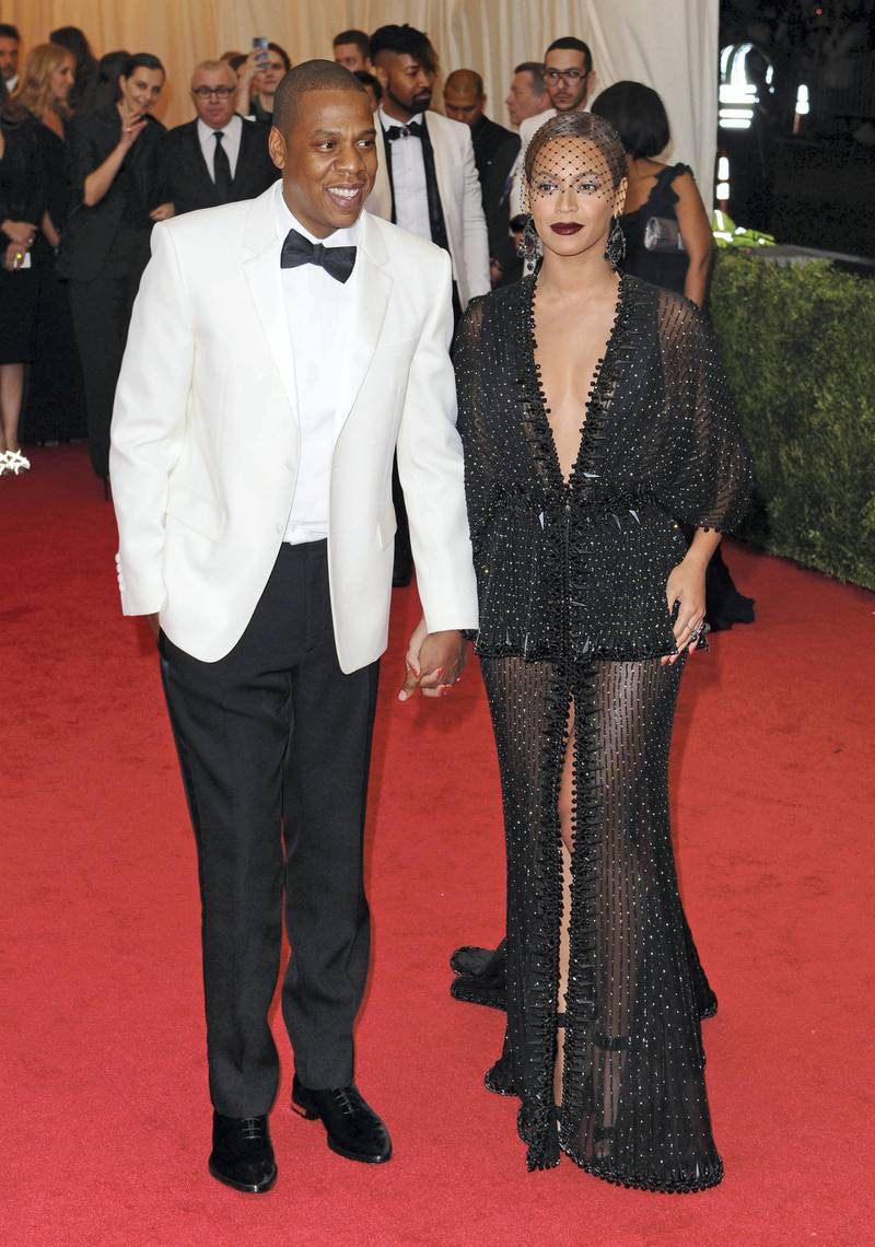 NEW YORK, NY - MAY 05:  Jay-Z and Beyonce Knowles attend the 'Charles James: Beyond Fashion' Costume Institute Gala at the Metropolitan Museum of Art on May 5, 2014 in New York City.  (Photo by Axelle/Bauer-Griffin/FilmMagic)