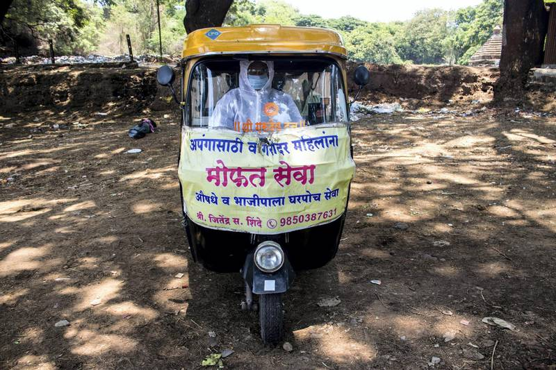 Jitendra drops the patients to any hospital in Kolhapur city for free. Sanket Jain for The National