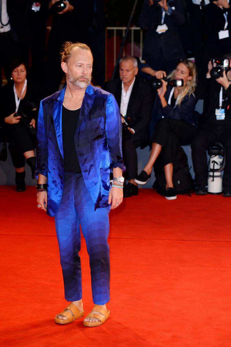 VENICE, ITALY - SEPTEMBER 01:  Thom Yorke walks the red carpet ahead of the 'Suspiria' screening during the 75th Venice Film Festival at Sala Grande on September 1, 2018 in Venice, Italy.  (Photo by Eamonn M. McCormack/Getty Images)