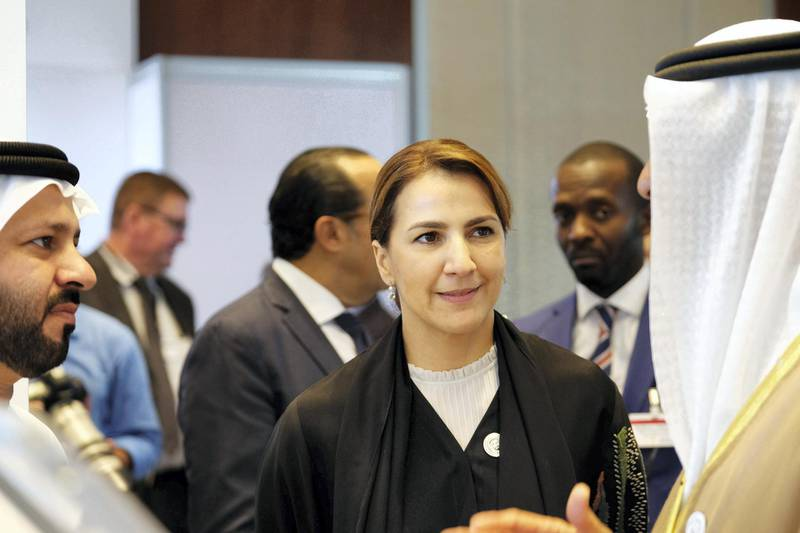 29.10.18  Her Excellency Mariam bint Mohammed Saeed Hareb Al Mehairi; Minister of State for Food Security, attending the Agiscape exhibition on agricultural investments and food security,  in Abu Dhabi at the Rosewood hotel. Anna Nielsen for the National