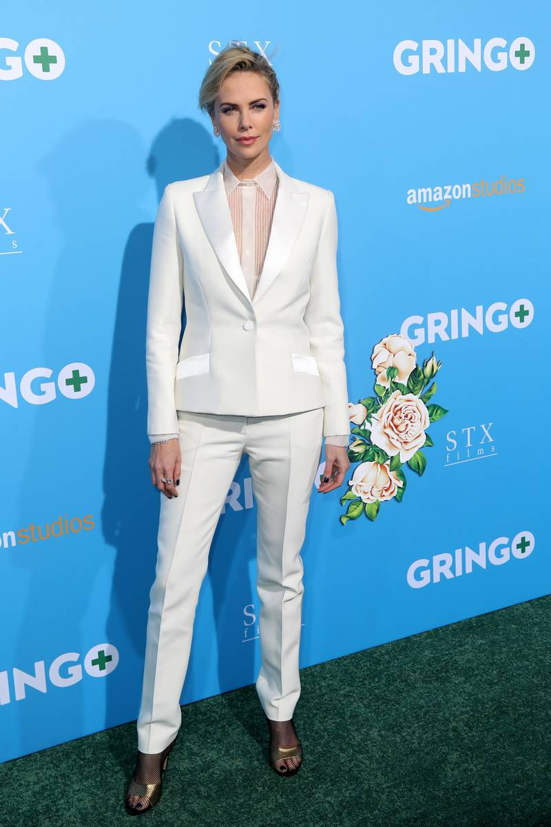 epa06586099 US-South African actress Charlize Theron arrives for 'Gringo' movie premiere in Los Angeles, California, USA, 06 March 2018. The movie will be released in US theaters on 09 March.  EPA-EFE/ANDREW GOMBERT