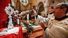 At start of Advent, fragment of Jesus' manger returned to Palestine