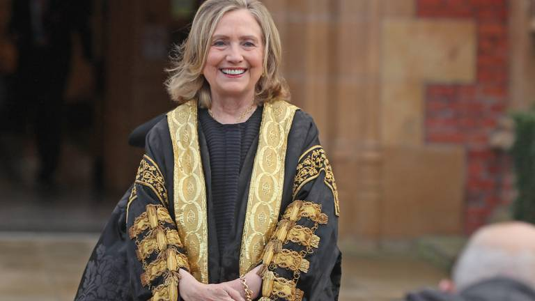 An image that illustrates this article Hillary Clinton installed as chancellor of Belfast university