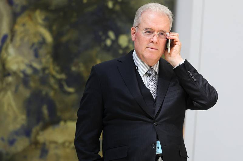 WASHINGTON, DC - MARCH 23: Billionaire Robert Mercer speaks on the phone during the 12th International Conference on Climate Change hosted by The Heartland Institute on March 23, 2017 in Washington, D.C.  (Photo by Oliver Contreras/For The Washington Post via Getty Images) *** Local Caption ***  bz27ap-robert-mercer.jpg