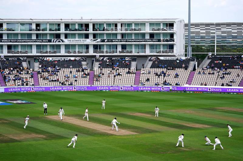India's Jasprit Bumrah caught out by New Zealand's Tom Latham in the last minutes of India's innings during day six of the ICC World Test Championship Final match at The Ageas Bowl, Southampton. Picture date: Wednesday June 23, 2021. PA Photo. See PA story CRICKET Final. Photo credit should read: Adam Davy/PA Wire.RESTRICTIONS: Use subject to restrictions. Editorial use only, no commercial use without prior consent from rights holder.
