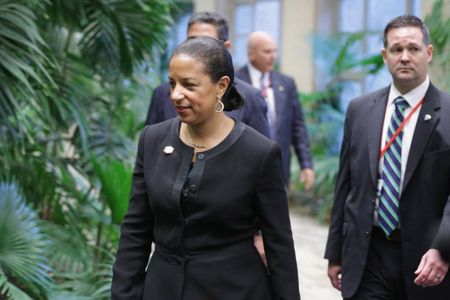 HAVANA, CUBA - MARCH 21:  U.S. National Security Advisor Susan Rice arrives for talks at the Palace of the Revolution March 21, 2016 in Havana, Cuba. The first sitting U.S. president to visit Cuba in 88 years, Barack Obama and Castro will sit down for bilateral talks and will deliver joint statements to the news media.  (Photo by Chip Somodevilla/Getty Images)