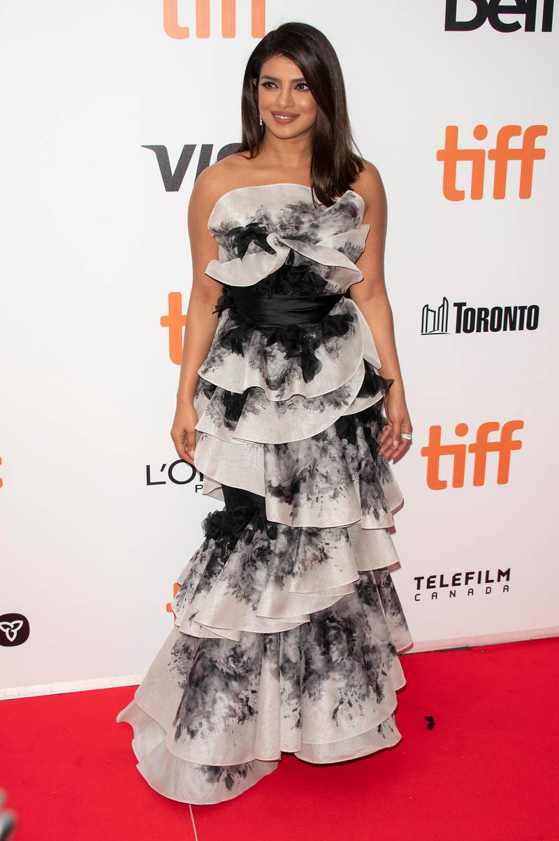 epa07840893 Indian actress and cast member Priyanka Chopra arrives for the premiere of the movie The Sky Is Pink during the 44th annual Toronto International Film Festival (TIFF) in Toronto, Canada, 13 September 2019. The festival runs from the 05 September to 15 September 2019.  EPA-EFE/WARREN TODA